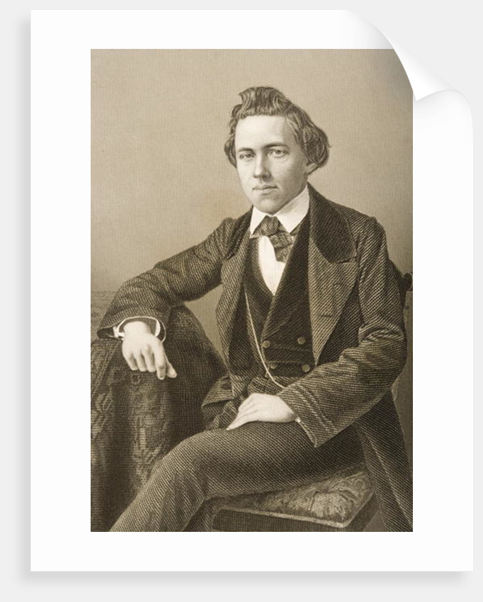 Paul Charles Morphy engraved by D.J. Pound from a photograph by John Jabez Edwin Paisley Mayall