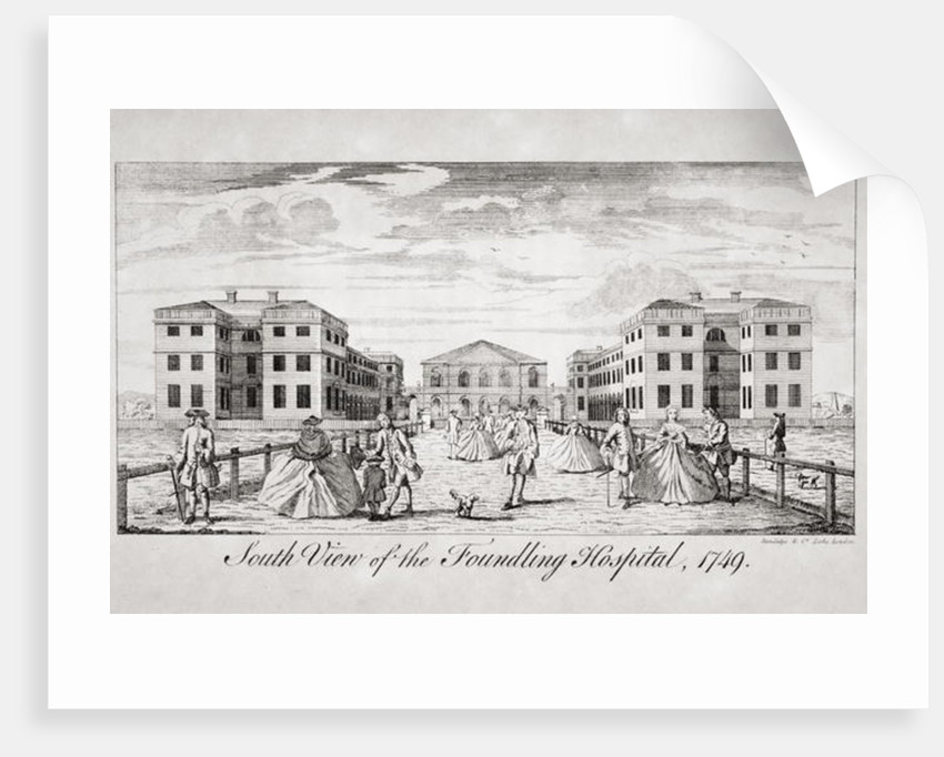 South view of the Foundling Hospital, London by English School