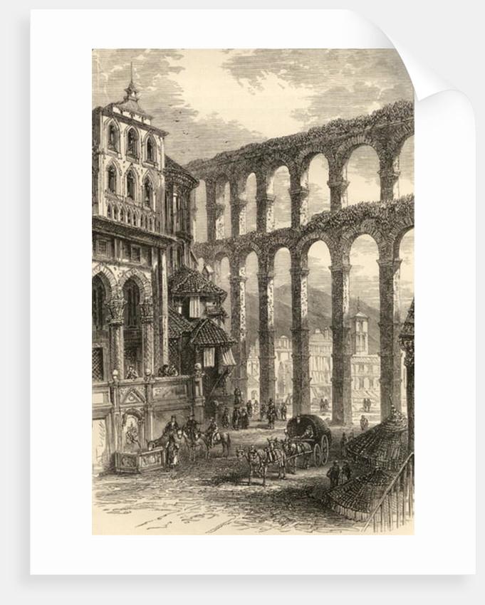 Aqueduct at Segovia, Spain by English School