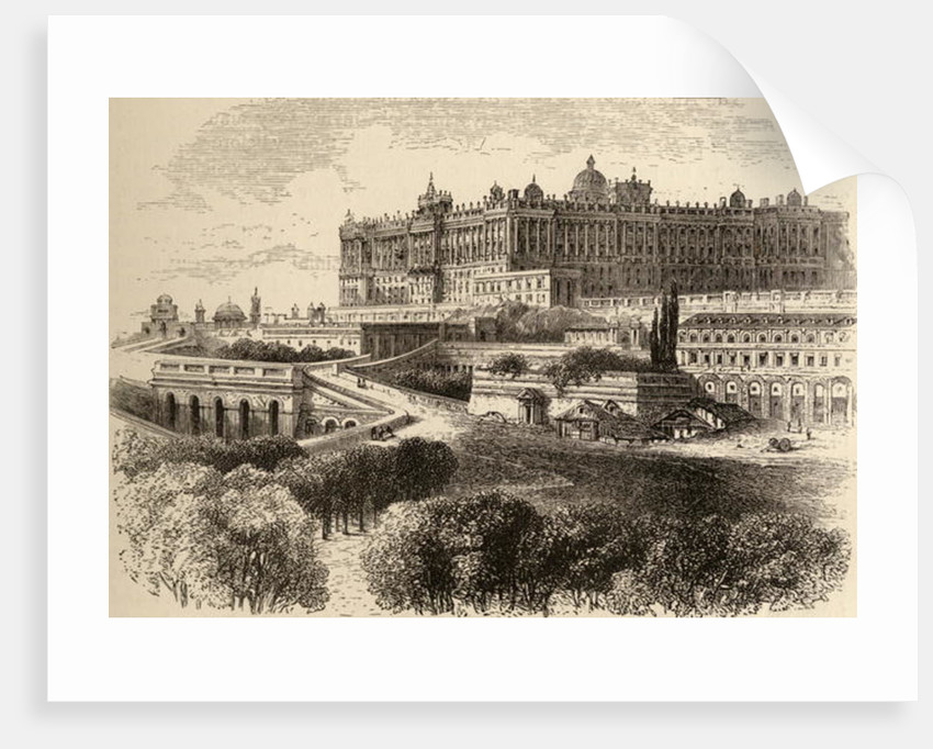 The Royal Palace, Madrid by English School