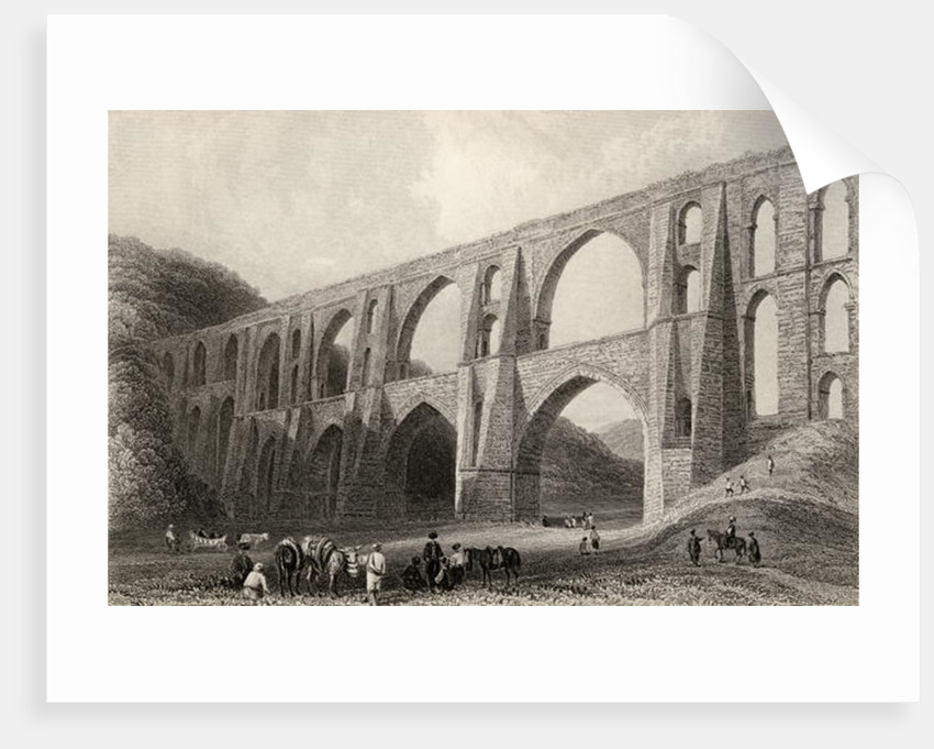 Aqueduct of the Emperor Valens, near Pyrgo, Turkey by William Henry Bartlett