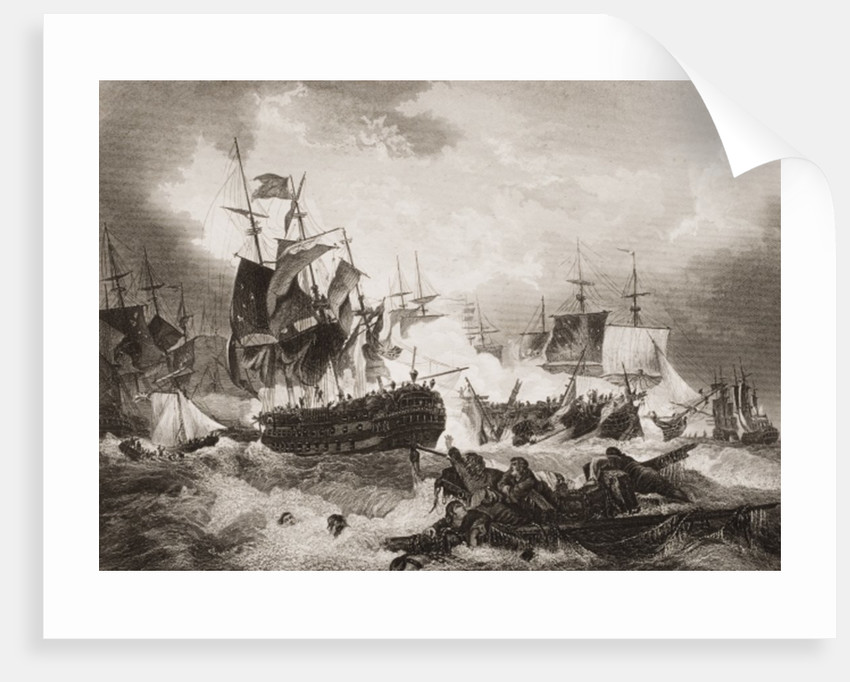 Admiral Duncan's Victory over the Dutch Fleet in the North Sea by English School