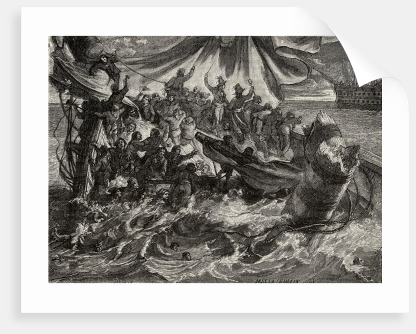 The Incident of 'Le Vengeur', June 1st 1794 by French School