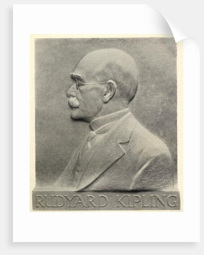 Joseph Rudyard Kipling, a plaque by Patrick Synge-Hutchison by English School