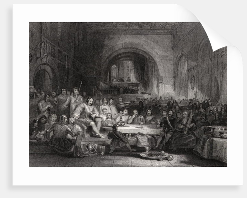 Prince Llewellyn and his Barons by George Cattermole