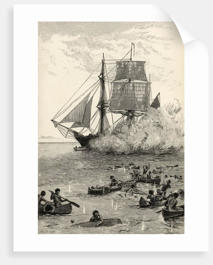 'Gave them such a Broadside' by Walter Stanley Paget