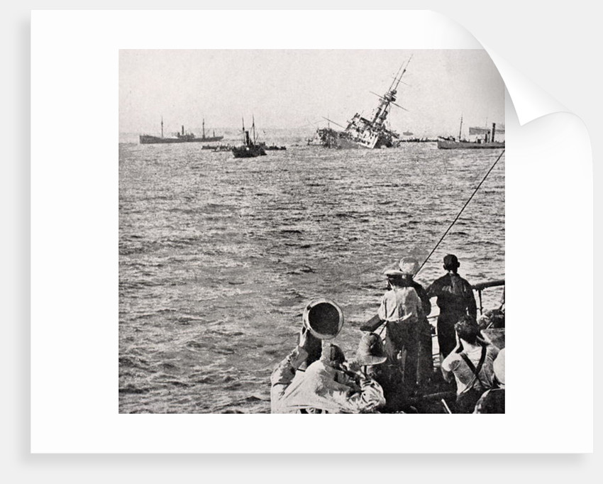 HMS Majestic sinking May 27 1915 by English School