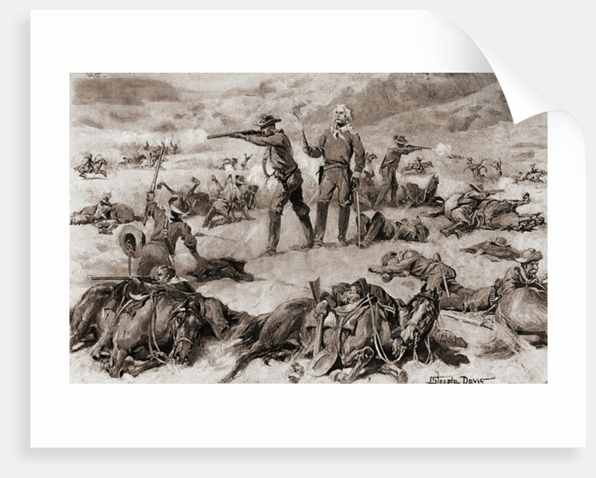 American soldiers pursuing Indians in the 19th century by Anonymous