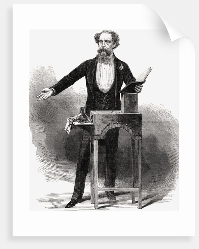 Charles Dickens giving a reading by George C. Leighton
