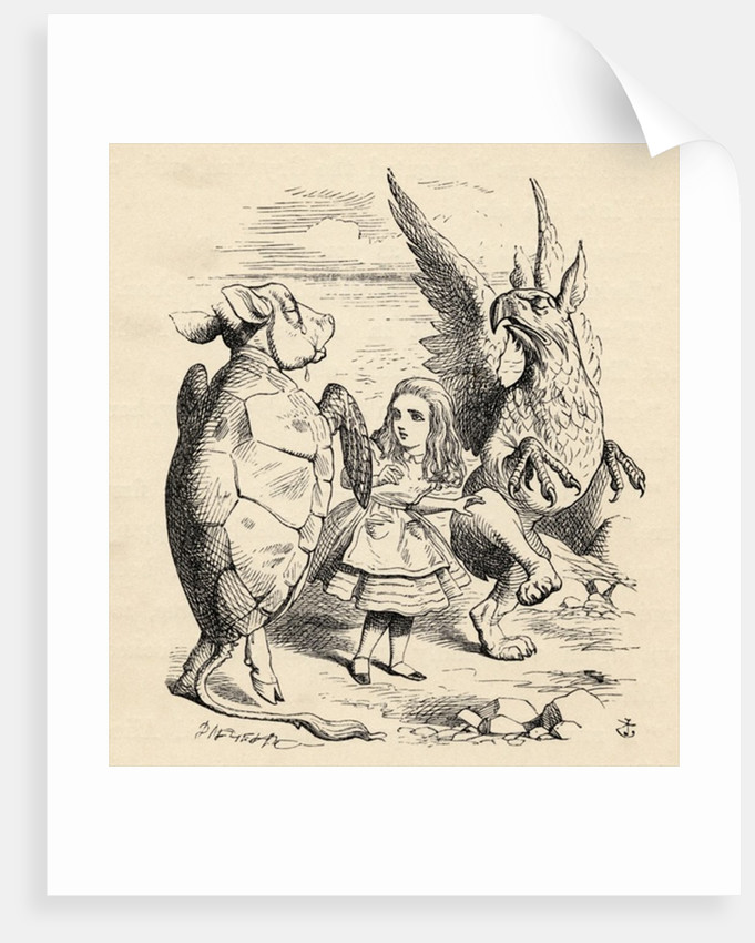 Alice with the Gryphon and the Mock Turtle by John Tenniel