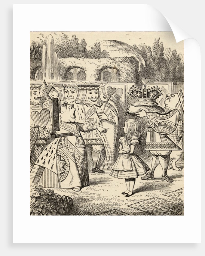 Off with her head by John Tenniel