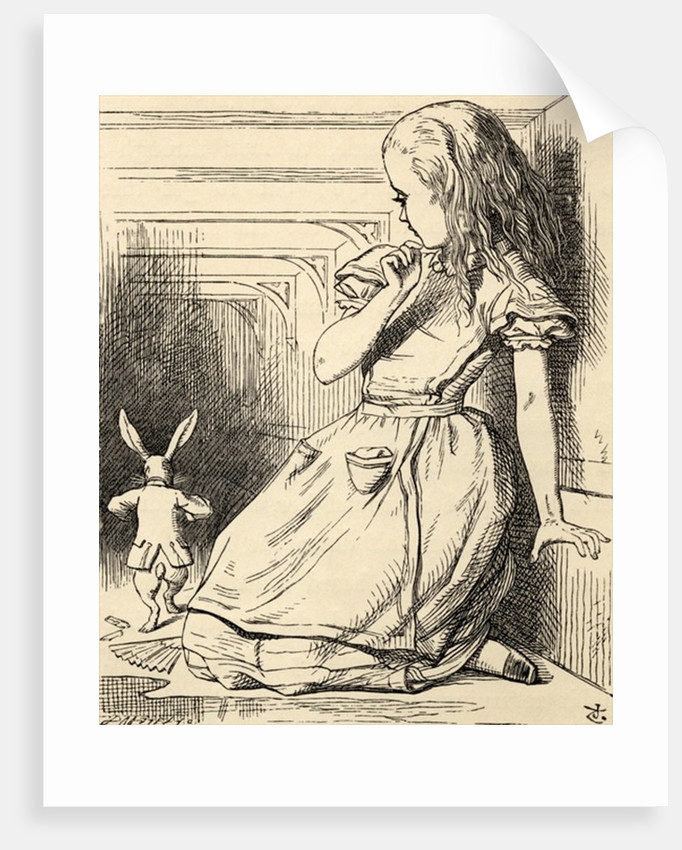 The White Rabbit is late by John Tenniel