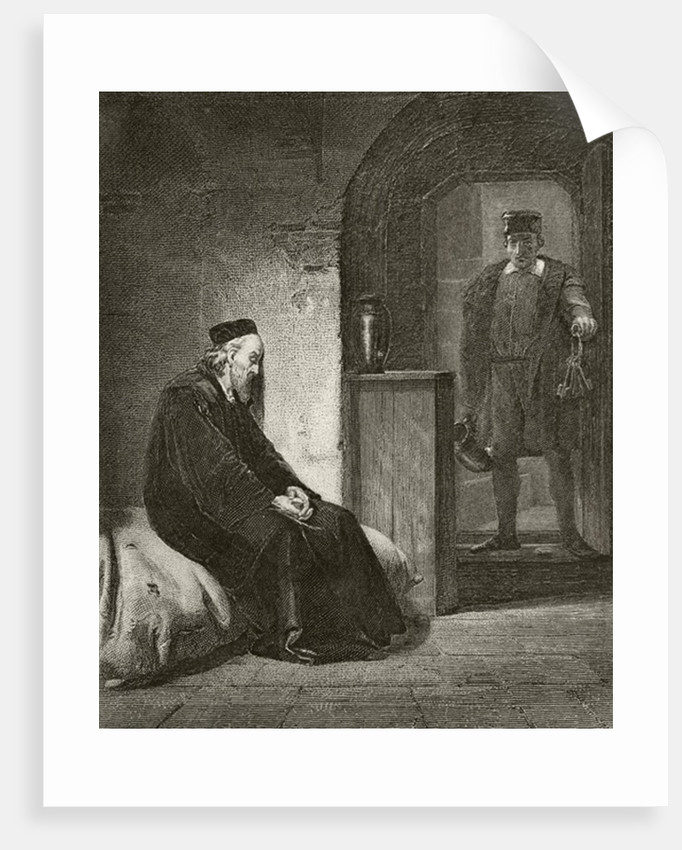 Sir Thomas More in prison by English School