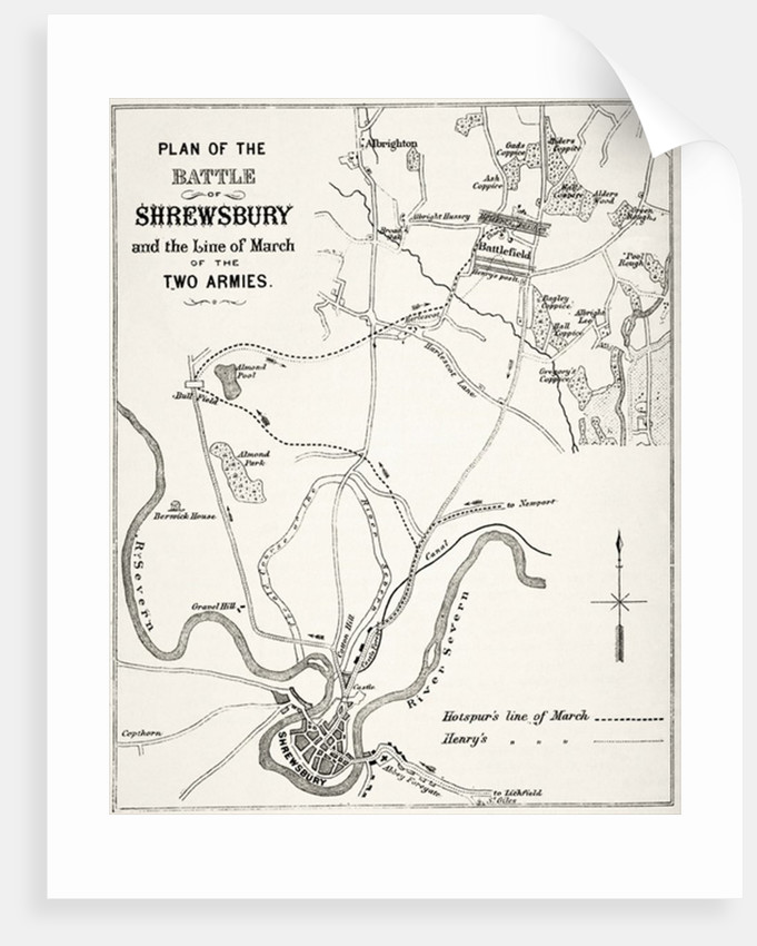 Plan of the Battle of Shrewsbury by English School