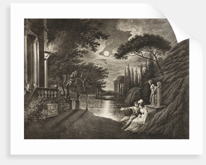 Belmont, Avenue to Portia's House, Act IIV, Scene I by William Hodges