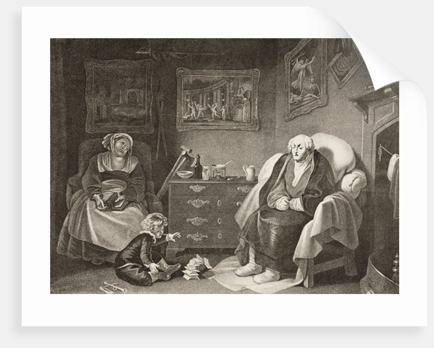 The Seven Ages of Man, Seventh Age, Act II, Scene VII by Robert Smirke