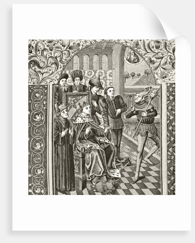 A court jester by English School