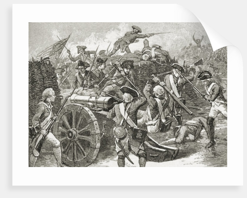Capture of a redoubt at Yorktown by American School