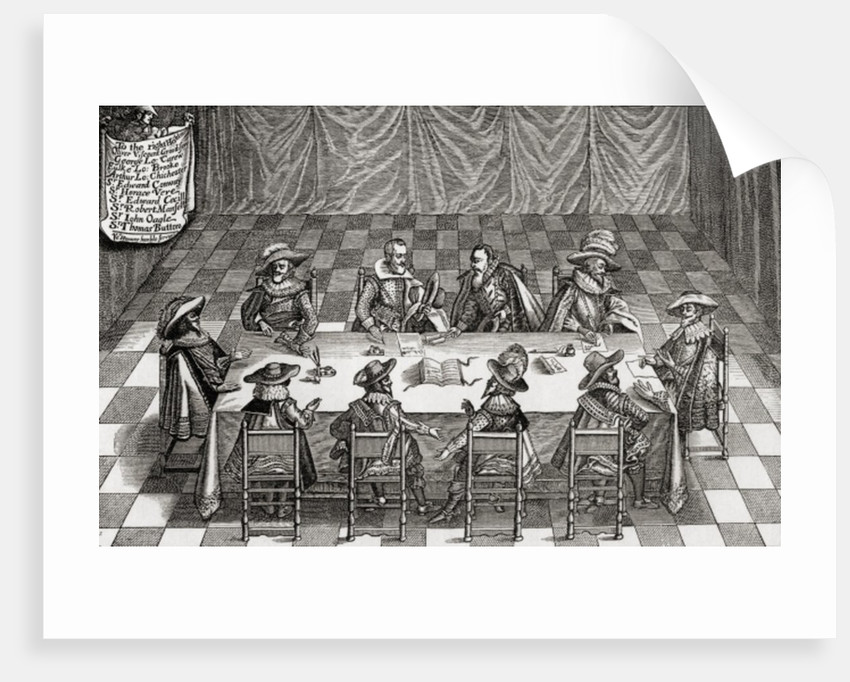 Great Britain's Council of War during the reign of James I by English School