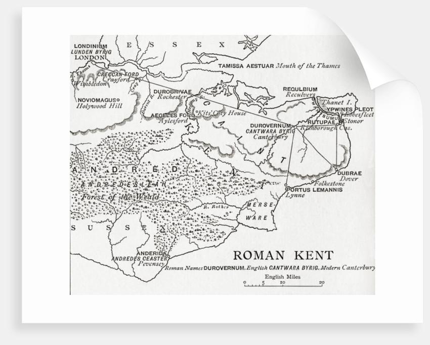 Map Of England 850.Map Of Roman Kent England