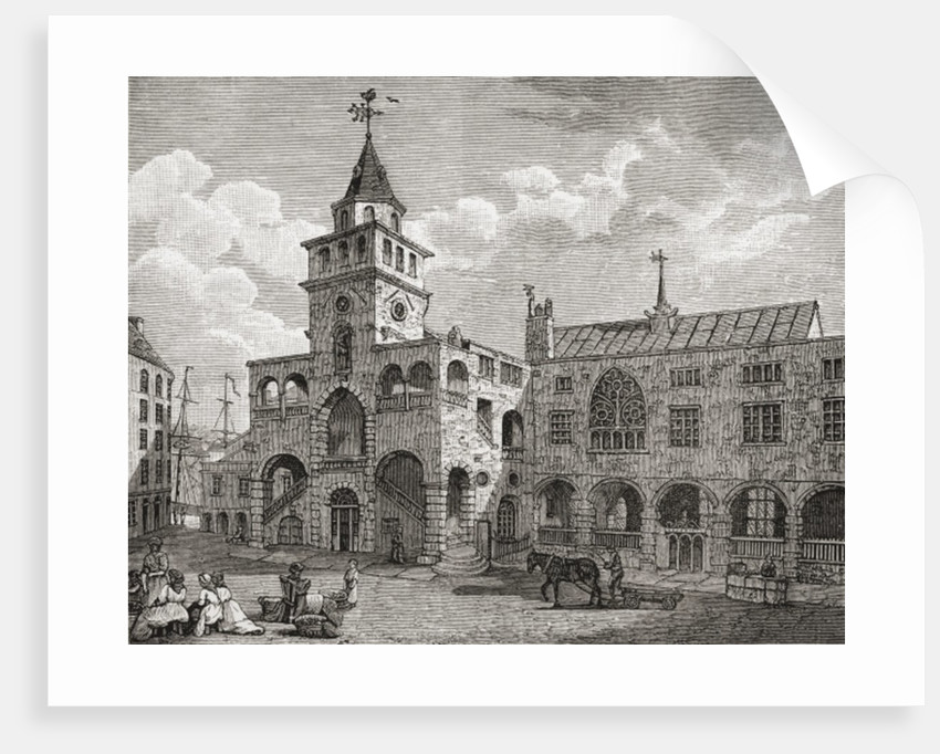 The Exchange, Newcastle upon Tyne in the 17th century by English School