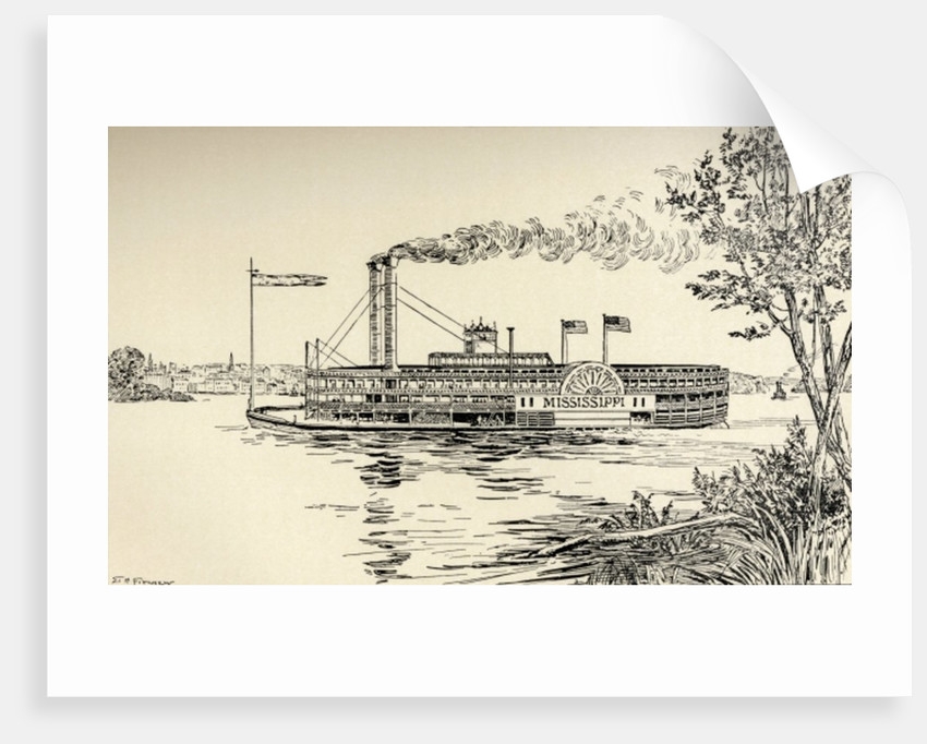 A Mississippi Steamer off St. Louis by E.H. Fitchew