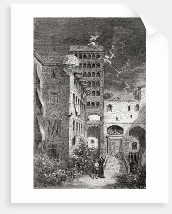 El Palacio de la Inquisicion in the 19th century by Gustave Dore
