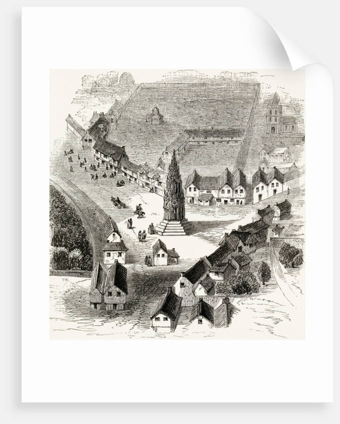 Charing Cross, London, in the 16th Century by English School
