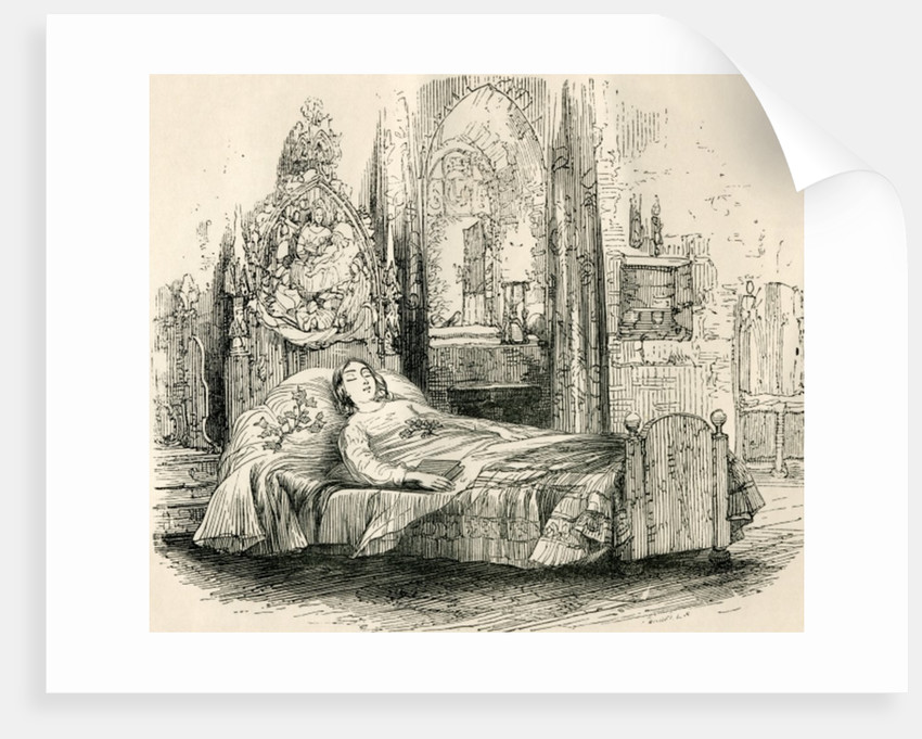 Nell Trent on her deathbed by English School