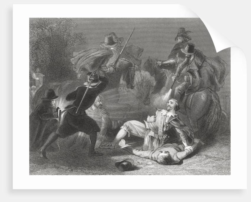 The murder of Lord Kilwarden by Robert Emmet's rebels in Dublin, Ireland, 1803 by Henry Warren