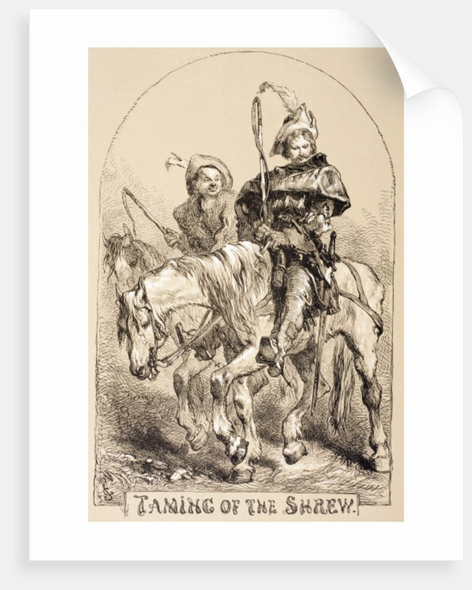 Illustration for The Taming of the Shrew by Sir John Gilbert