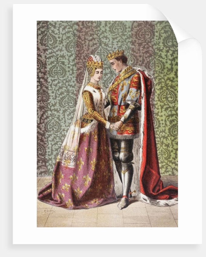 Katharine speaks in Henry V, Act V, Scene II, 'Dat is as it sall please de Roi mon pere' by Robert Dudley