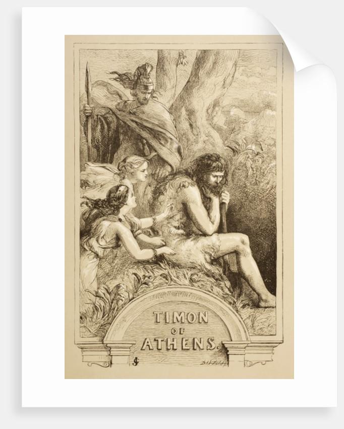 Illustration for Timon of Athens by Sir John Gilbert