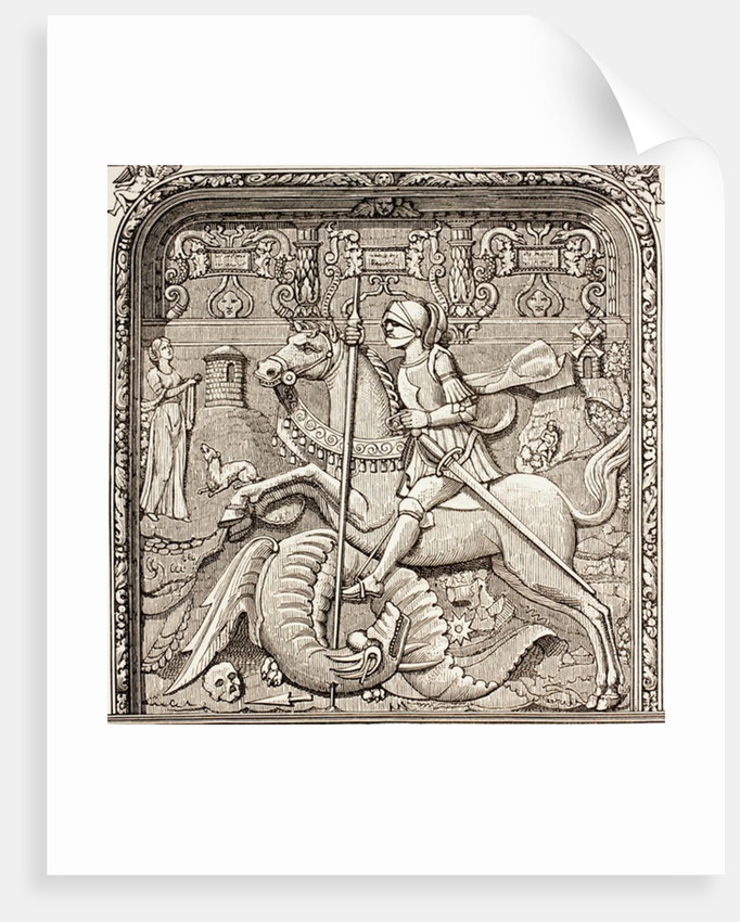 St. George slaying the dragon by French School