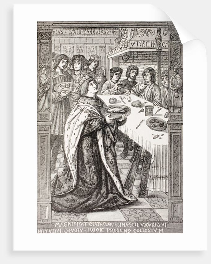 St. Louis, serving a meal to the poor by French School