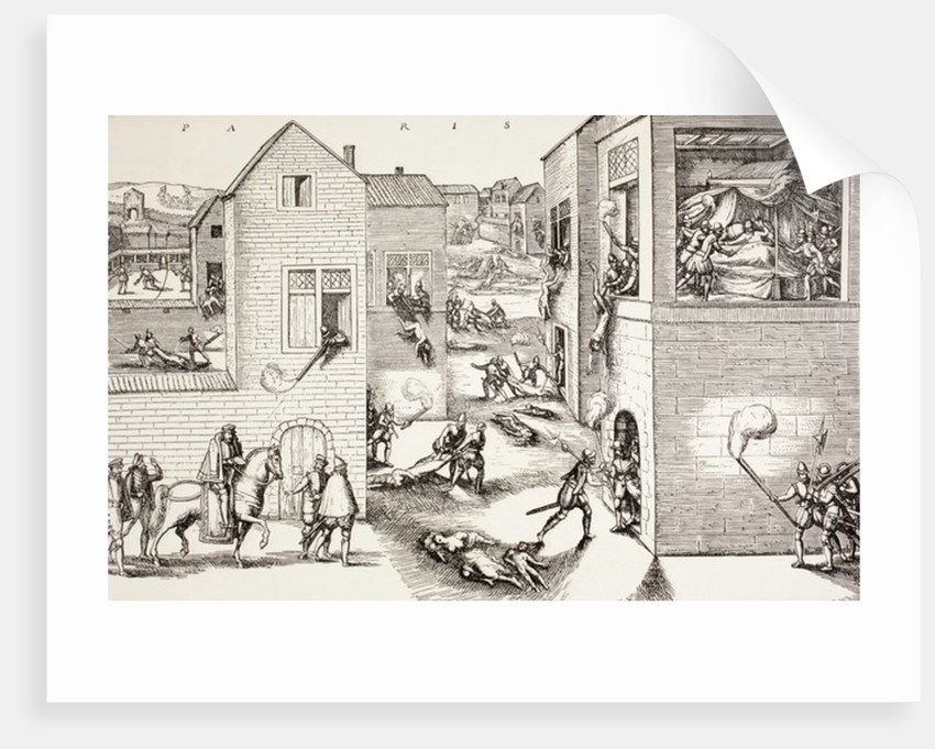 The St. Bartholomew's Day massacre, August 1572 by French School