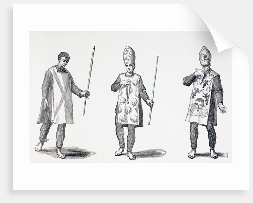 Sambenitos worn by Auto-da-Fe penitents by French School