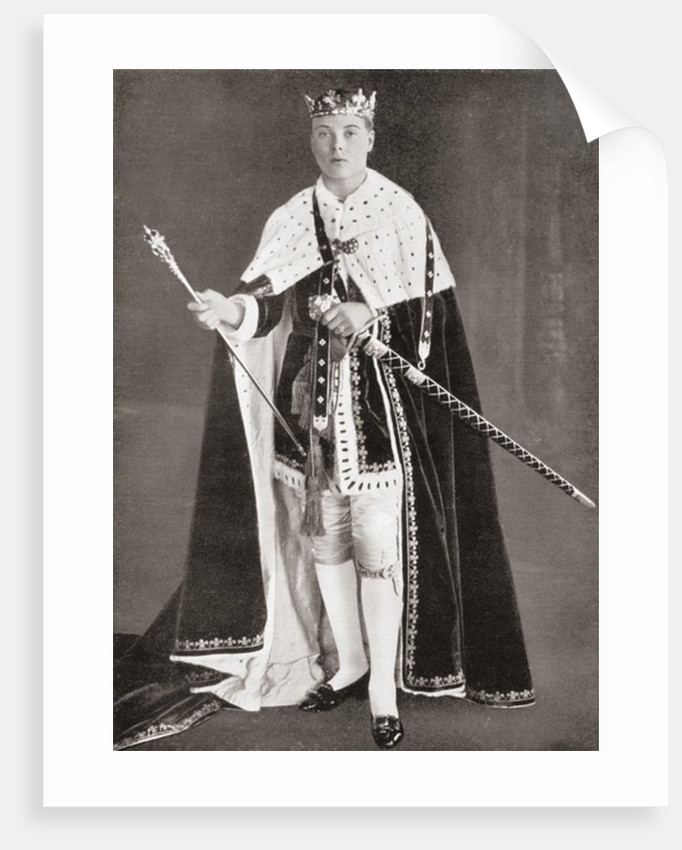 The Prince of Wales, later King Edward VIII, in his investiture Robes in 1911 by Anonymous
