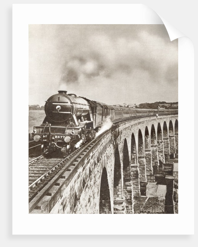 The Flying Scotsman on its non-stop journey between London and Newcastle in 1927 by Anonymous