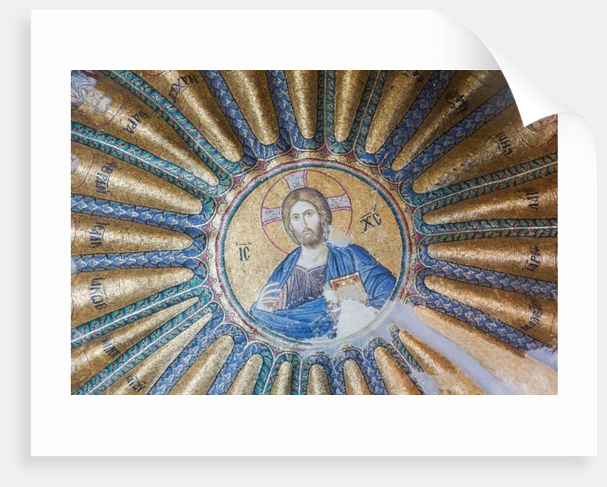 Istanbul, Turkey. Byzantine Church of St. Saviour in Chora. Mosaic of Jesus Christ in southern dome of inner narthex. by Anonymous