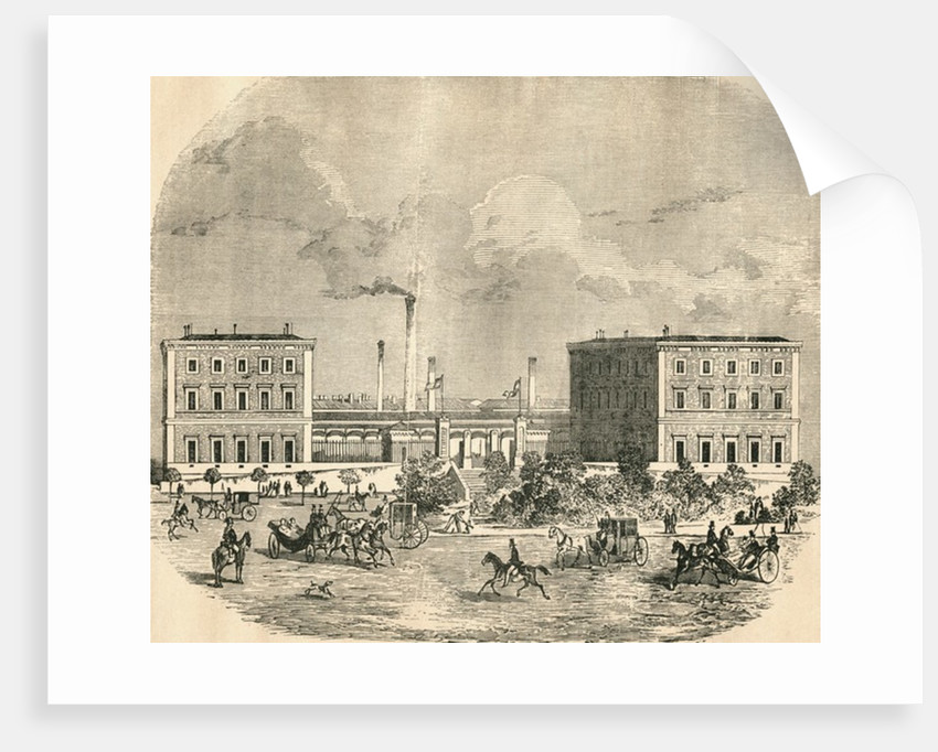 Exterior view of the old Fabrica de Moneda or Royal Mint by Anonymous