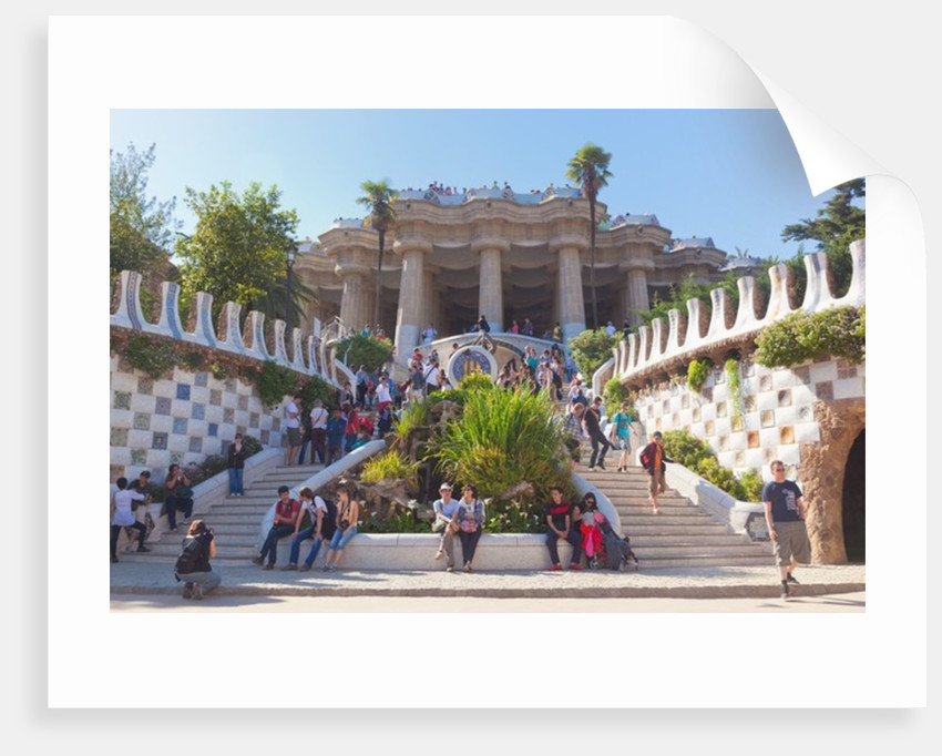 Entrance to Parc Güell, Barcelona, Spain by Unknown