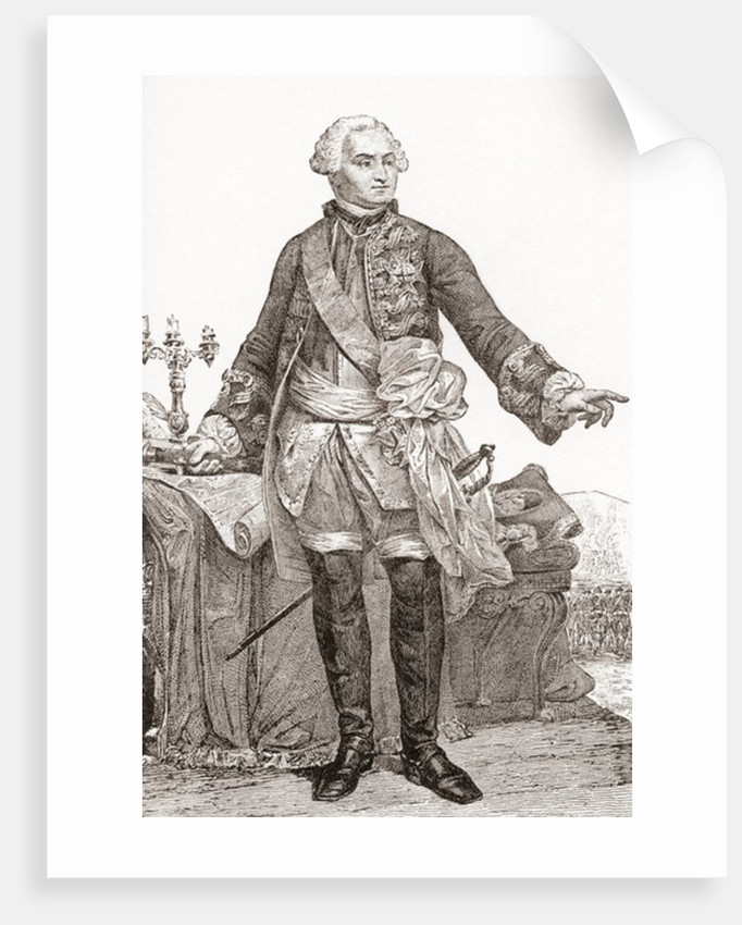 Ulrich Frédéric Woldemar, Comte de Lowendal. German-born French soldier and statesmen by French School