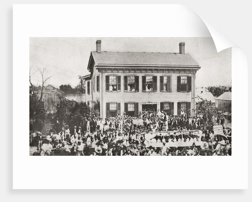 The home of Abraham Lincoln in Springfield, Illinois, during the 1860 Presidential campaign by Anonymous
