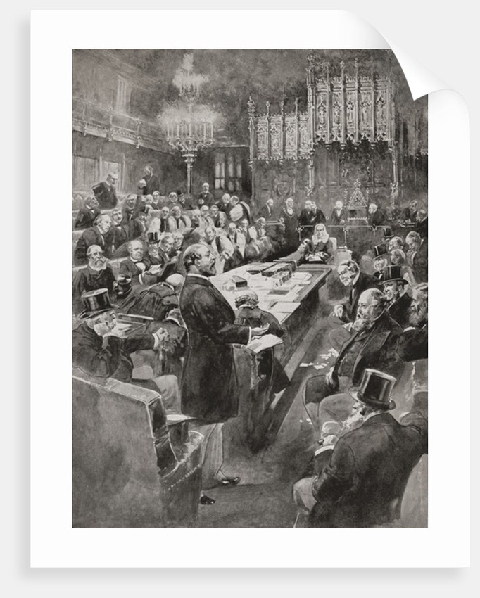 Albert Edward Prince of Wales delivering his only speech in the House of Lords in 1884 by Anonymous