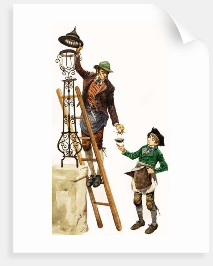 Once Upon a Time... Street lighting and lamps in Tudor times by Peter Jackson