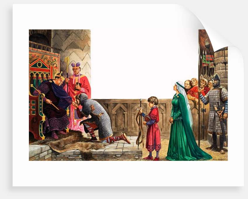 Knight swearing allegiance to King William I by Peter Jackson