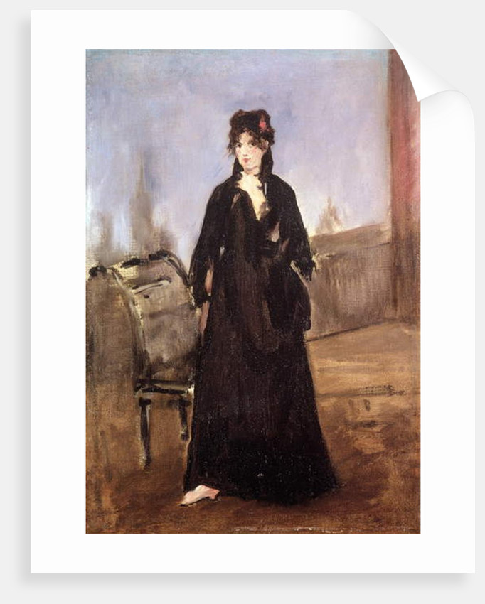 Portrait of Berthe Morisot in Pink Shoes, 1872 by Edouard Manet