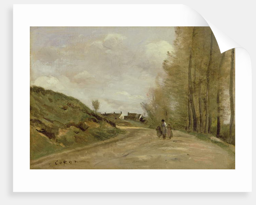 The Road in Gouvieux, c.1850-60 by Jean Baptiste Camille Corot