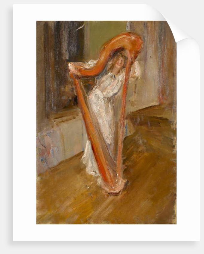 Woman with a harp, 1903 by Albert de Belleroche